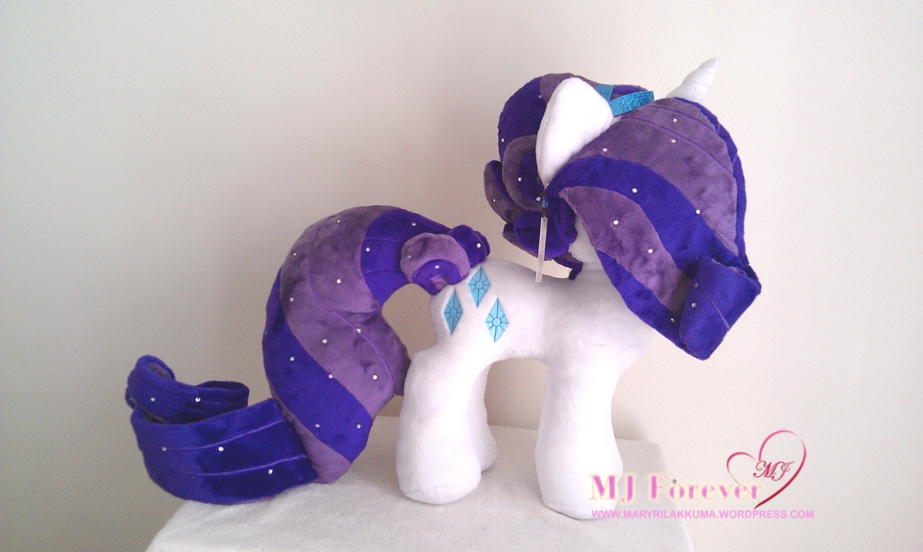 Crystal Pony Rarity plushie by Burzurk