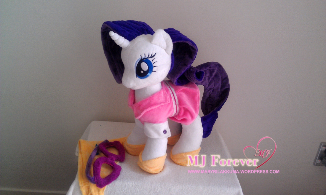 Camping Rarity plushie by agatrix