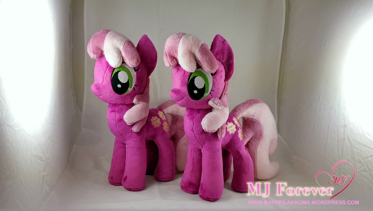 Cheerilee plushie x2 sewn by meeee!!!!!