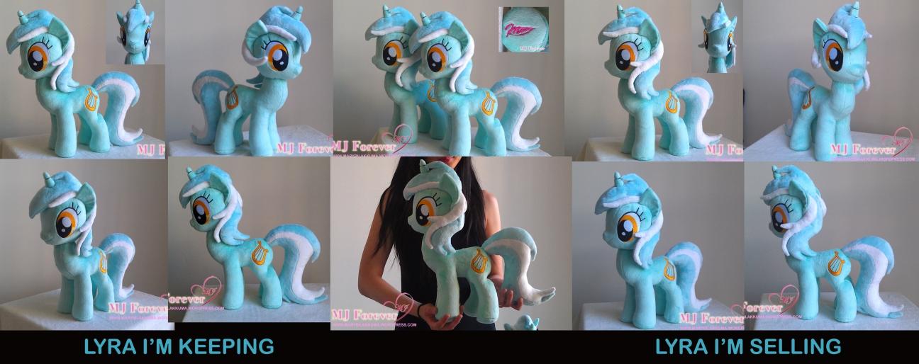 Lyra Heartstrings plushie x2 by meeeeeee!!!!