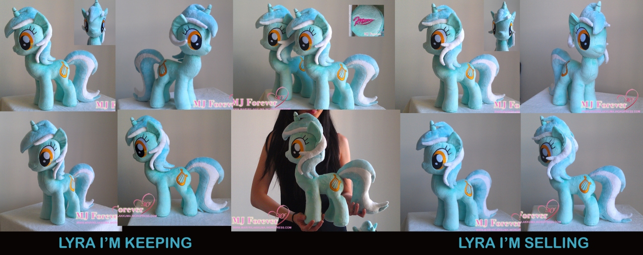 Lyra Heartstrings plushie x2 by meeeeeee!!!!