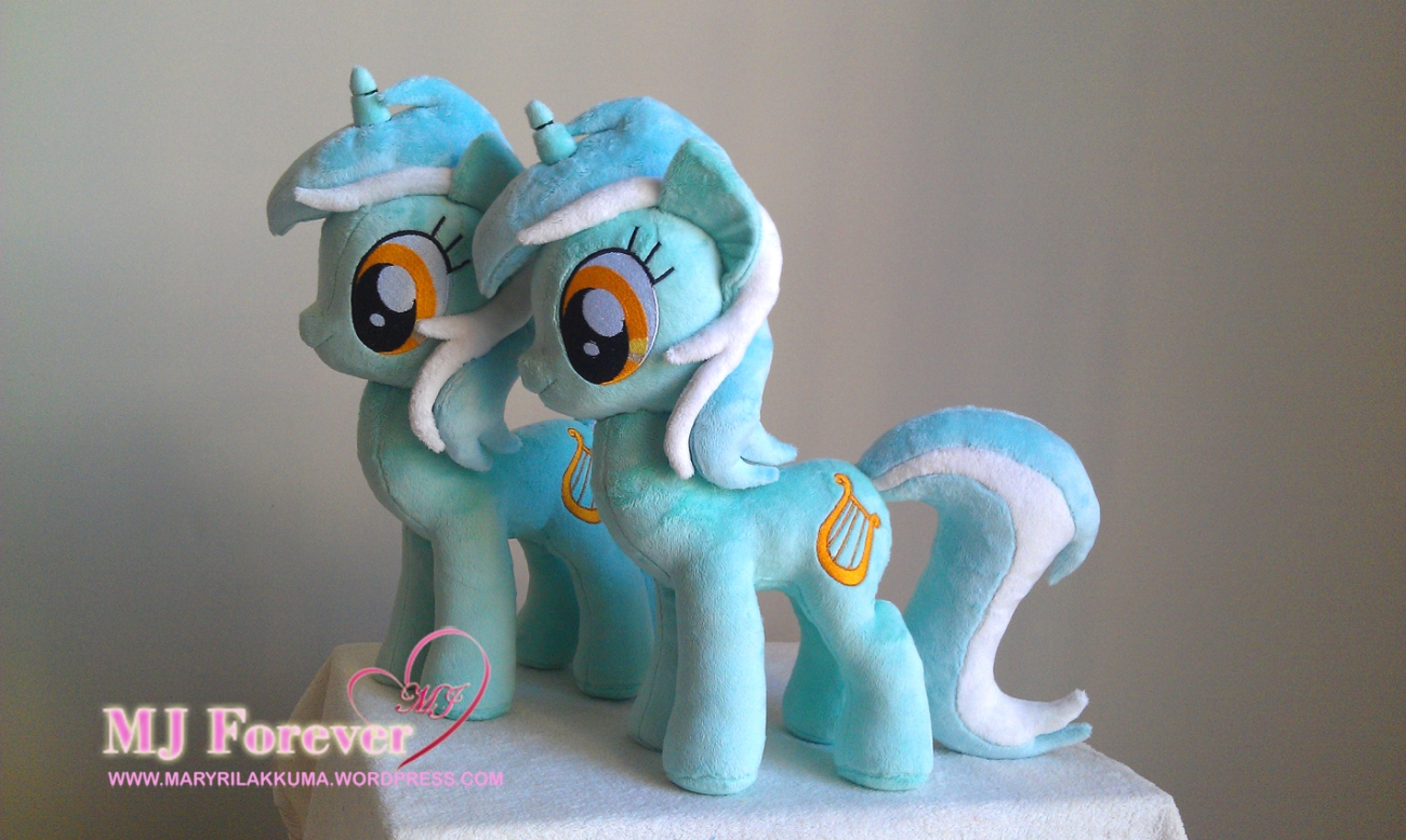 Lyra Heartstrings plushies sewn by meeee!!!