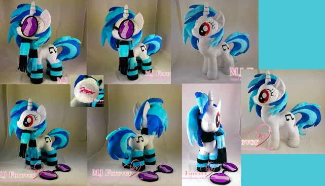 Vinyl Scratch plushie w accessories sewn by meee!!!!!!