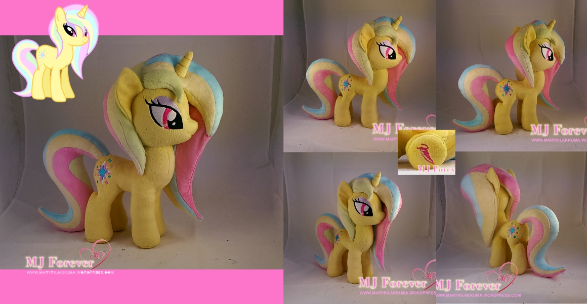Peach Lovely (my OC) plushie made by meeeee!!!!!