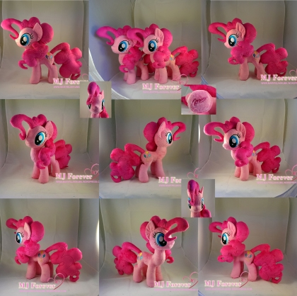 Pinkie Pie Plushies x2 by meeee!!!! (left Pinkie for my own collection, right Pinkie for sale!)