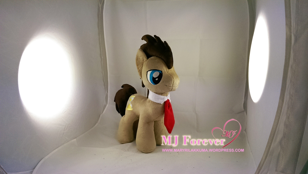 Dr Whooves plushie by meeee!!!!!
