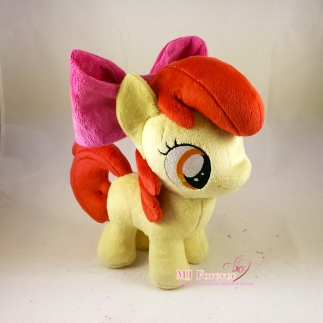 Apple Bloom plushie sewn by meee!!!!!!!