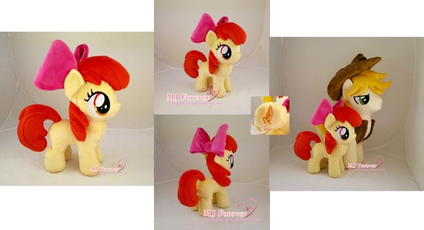 Apple Bloom plushie sewn by meeee!!!!