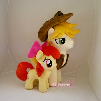 Apple Bloom plushie sewn by meeee!!!!