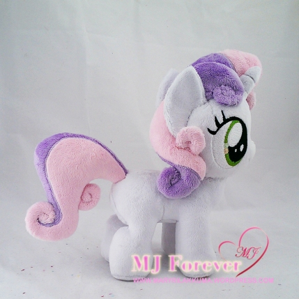 Sweetie Belle plushie commission sewn by meeee!!!