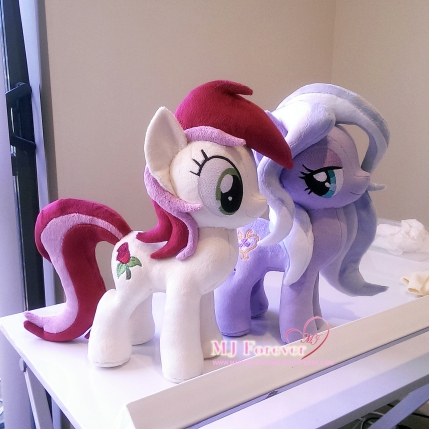 Roseluck #2 & Wisteria Bell plushie by me! :)