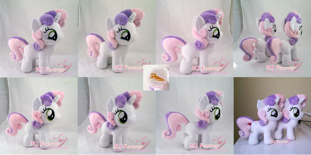 Sweetie Belle plushies sewn by meee!!!!!