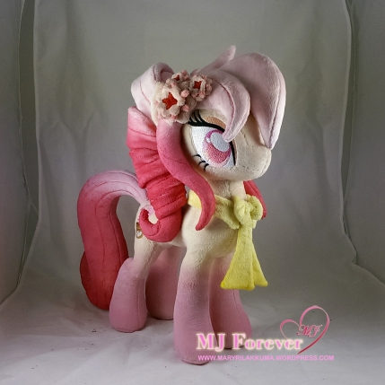 Autumn Orchid plushie (my OC) sewn by meee!!!!! She showcases my alicorn/princess body pattern. Her head is of my mare head pattern.