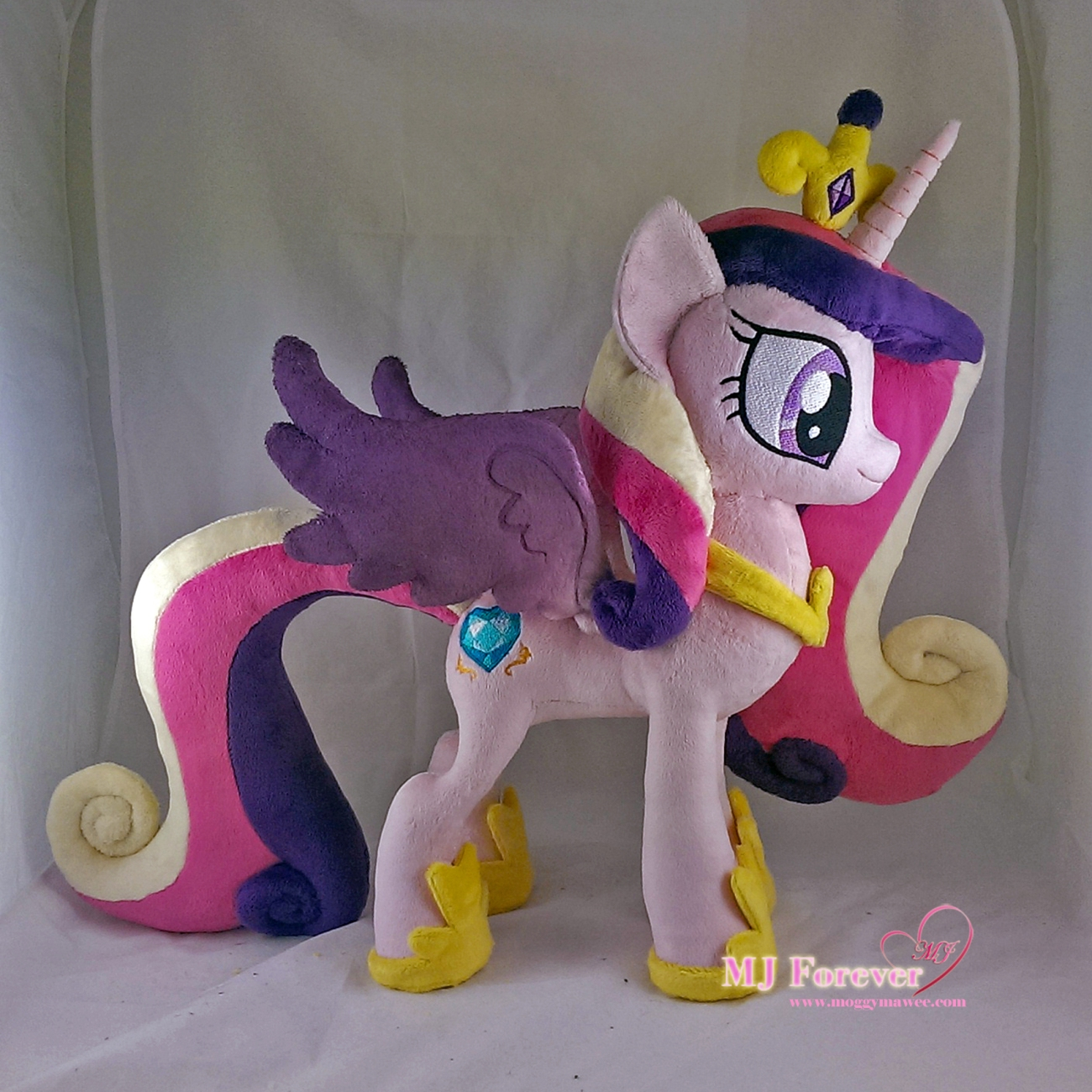 Princess Cadence plushie sewn by meee!!!!!