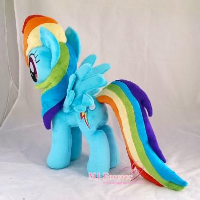 Rainbow Dash plushie sewn by meee!!!!