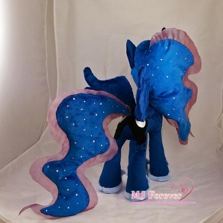 Princess Luna plushie sewn by meeeee!!!!!