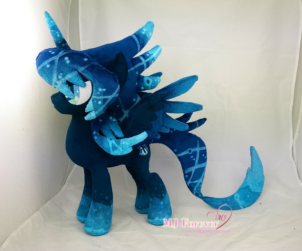 Novalis plushie with removable armour sewn by meee!!!