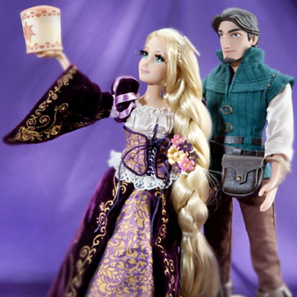 Limited Rapunzel and Flynn (Eugene) DFDC dolls
