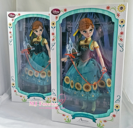 "Two 17"" Anna Frozen Fever Limited Edition dolls. LE 5000"