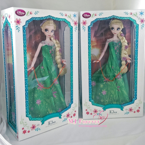 "Two 17"" Elsa Frozen Fever Limited Edition dolls. LE 5000"