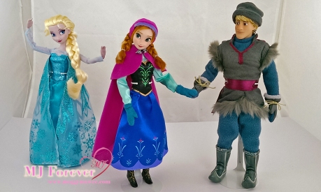 Frozen classic dolls - Elsa, Anna and Kristoff