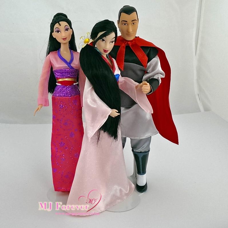 Mattel Mulan doll with Mulan and Li Shang - classic dolls