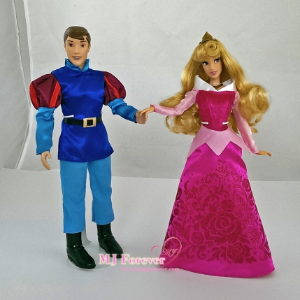 Aurora and Prince Phillip - classic dolls