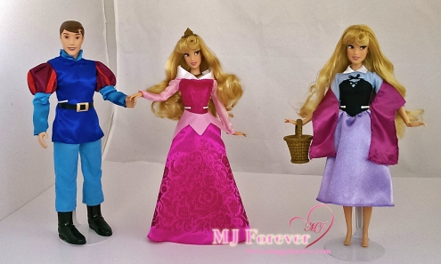Singing doll Briar Rose with Aurora and Prince Phillip - classic dolls
