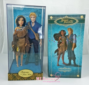 Disney Fairytale Designer Collection - Pocahontas & John Smith dolls