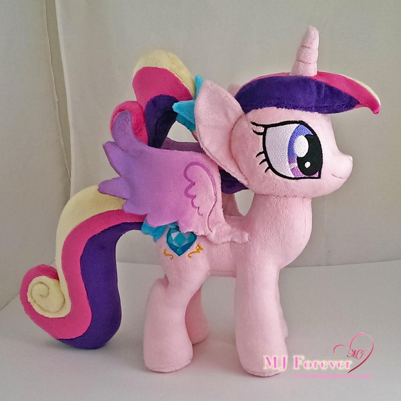 Foalsitter Cadence plushie sewn by meeee!!!!! ^^