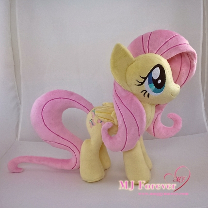 Fluttershy plushie #2 sewn by meeee!!!!!