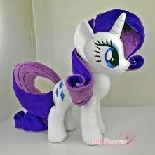 Rarity plushie sewn by meeee!!!!!! ^^