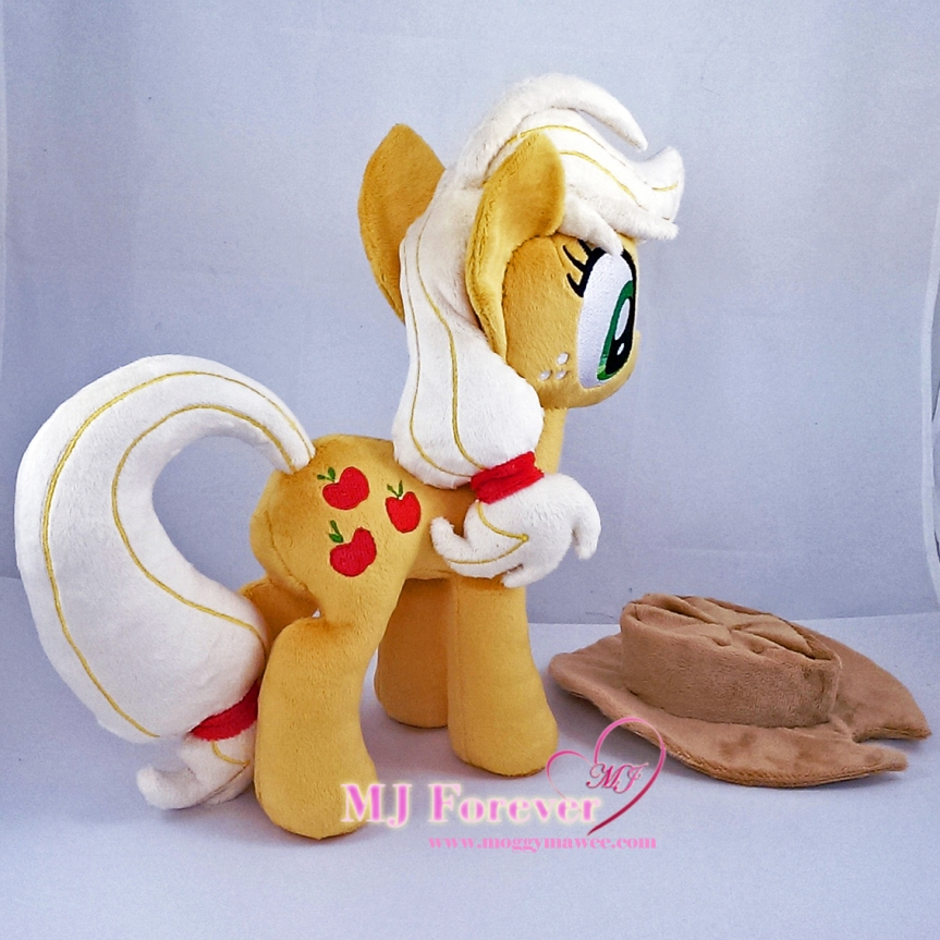 Applejack plushie sewn by meee!!!