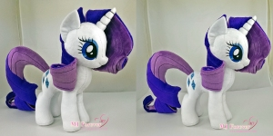 Rarity plushie sewn by meee!!!  Older plushie, made in 2013