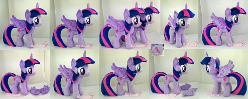 Twilight Sparkle plushie x2 sewn by meeee!!!!!