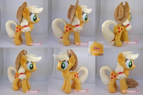 Applejack plushie sewn by meee!!!!