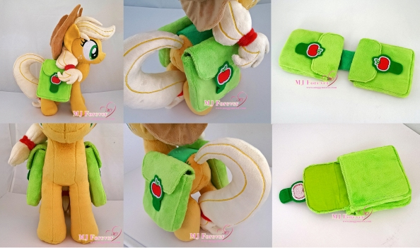 Applejack saddlebags sewn by meee!!! (commission)