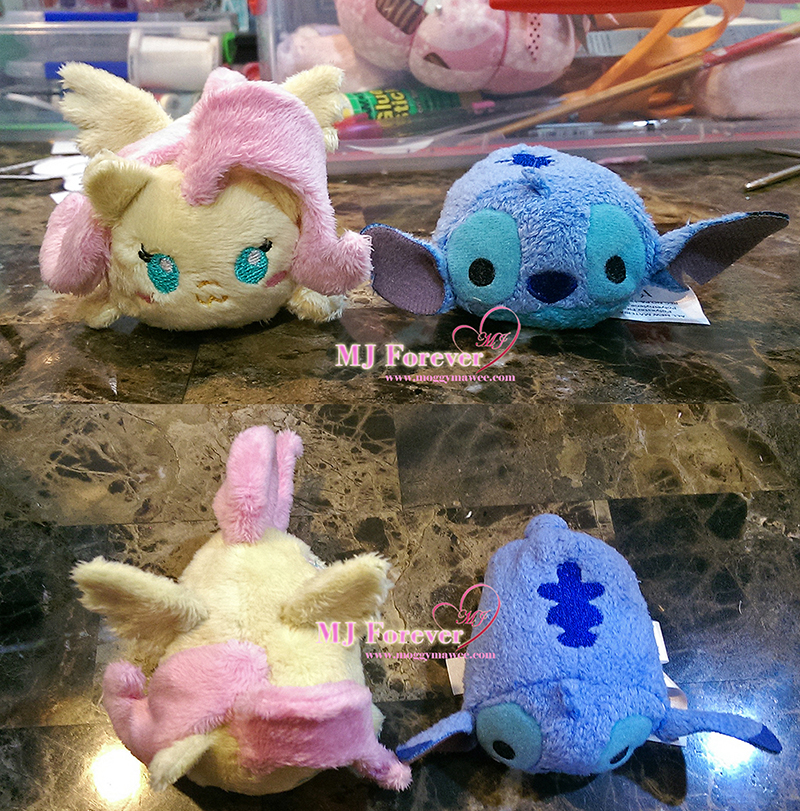 Tsum fluttershy size comparison with Disney Tsum