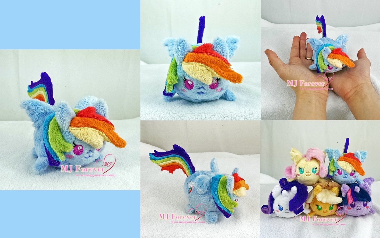 Tsum Rainbow Dash sewn by mee!!!!!