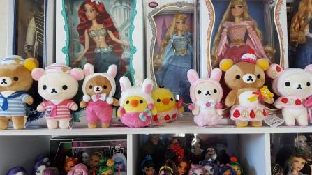 Strawberry Bunny Rilakkuma plush set (keeping)