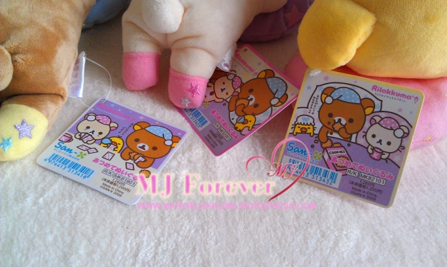 Bedtime Rilakkuma plush set (sold)
