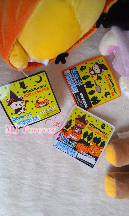 2010 Halloween Rilakkuma plush set (keeping)