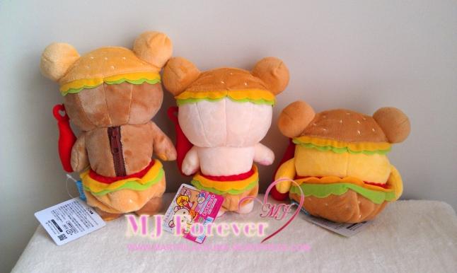Hamburger Rilakkuma plush set