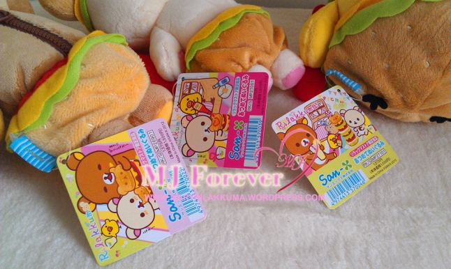 Hamburger Rilakkuma plush set