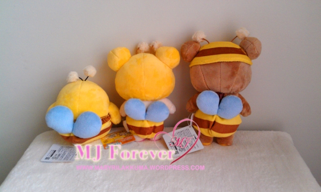 Honey Bee Rilakkuma plush set