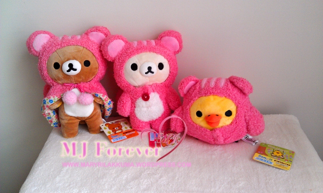 Squirrel Rilakkuma plush set