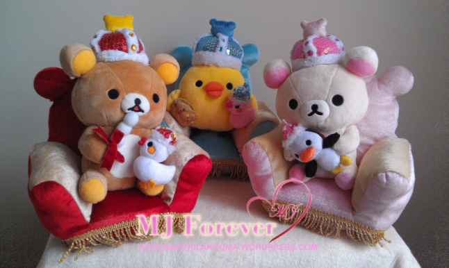 Winter Wonderland Rilakkuma plush set (sold)