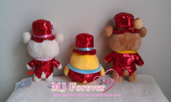 10th anniversary Red Tuxedo Rilakkuma plush set
