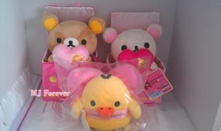 Valentine's Rilakkuma plush set (sold)