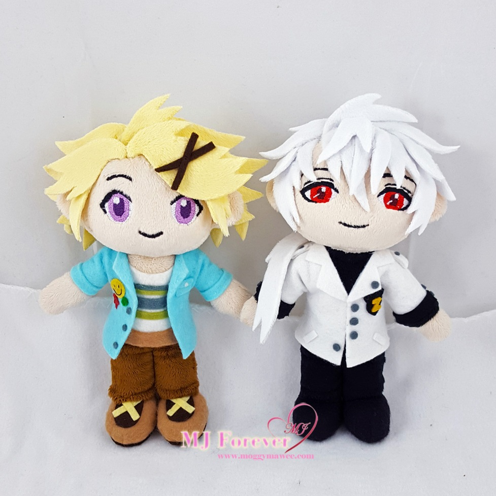 Yoosung and Zen plush sewn by meee!!!!! ^^